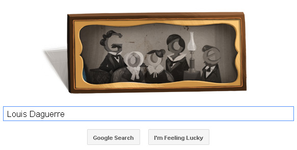 Louis Daguerre Doodle on the Google Homepage