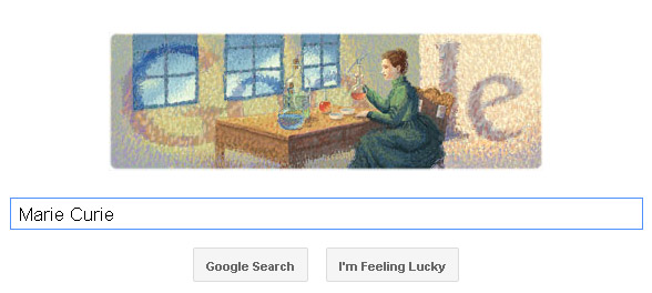 Marie Curie Doodle (6. November 2011)