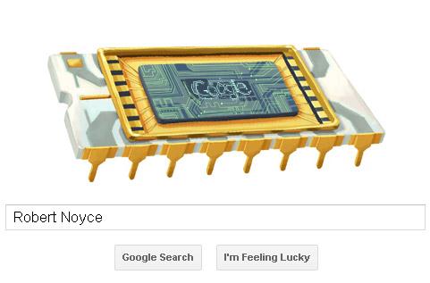 Robert Noyce Google Doodle - Microchip-Style