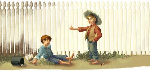 Tom Sawyer und Huckleberry Finn (Detail 3)