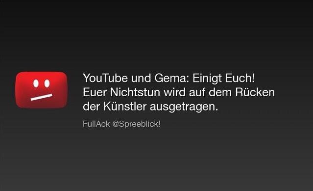 youTube - Gema: Einigt Euch!!!