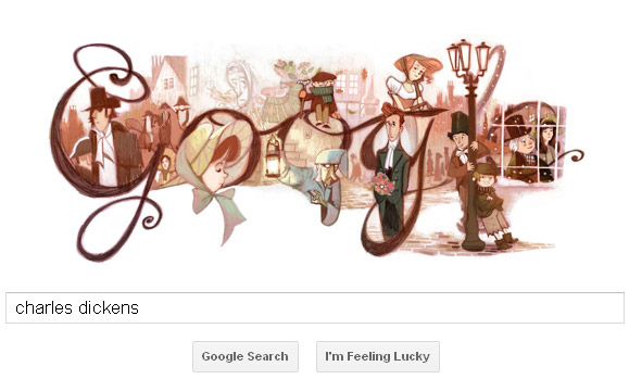 Charles Dickens Google Doodle
