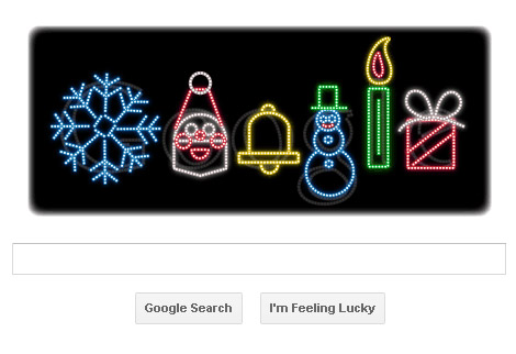 Frohes Fest - Google Doodle zu Weihnachten