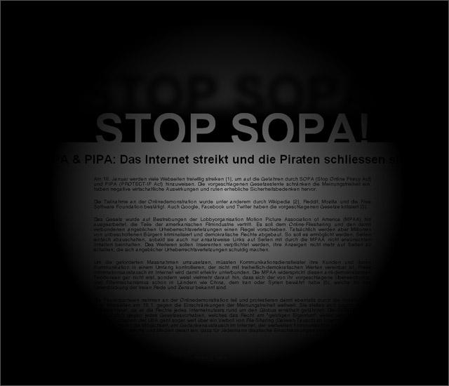 Stop Sopa bei der Piratenpartei