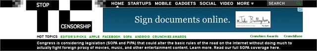 SOPA Techchrunch Logo