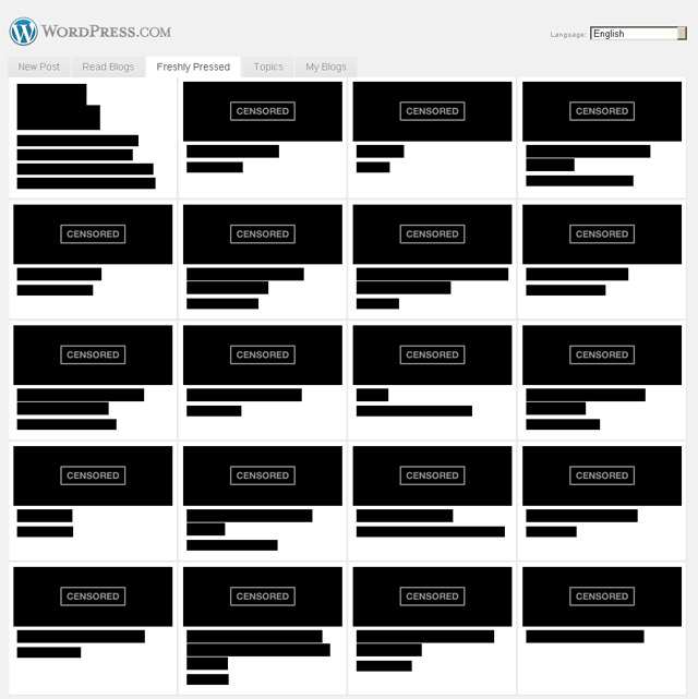 SOPA Protest bei WordPress.com