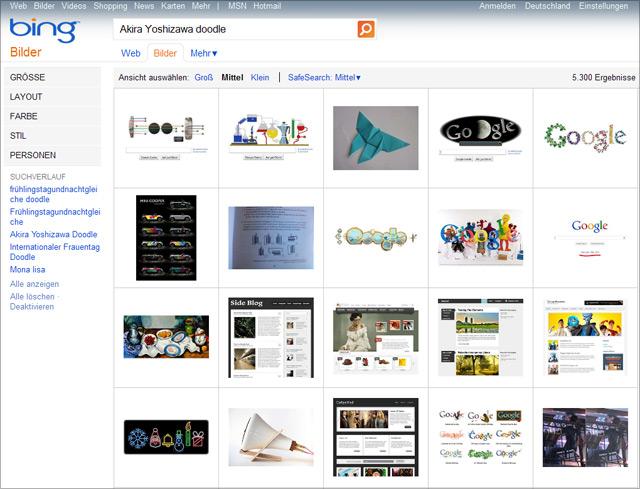 """Bing-Screenshot: """"Akira Yoshizawa Doodle"""""""