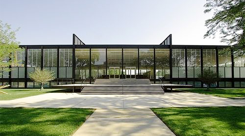 Crown Hall von Ludwig Mies van der Rohe ( Illinois Institute of Technology in Chicago)