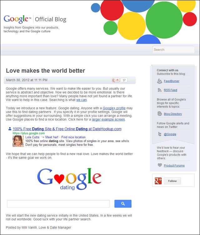 Google plus partnersuche