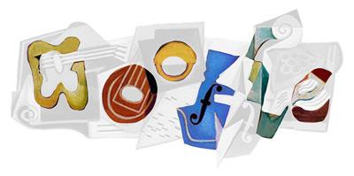 Google Schriftzug im Gris-Doodle