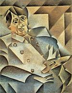 Pablo Picasso, gemalt von Juan Gris (1912)