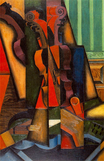 Juan Gris: Violine und Gitarre (1913)