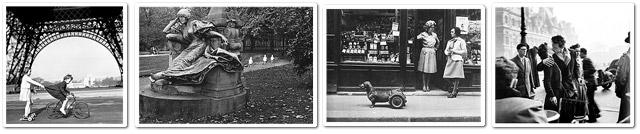 Die vier Fotos auf dem Doisneau-Doodle